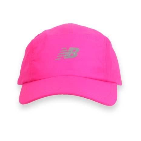 【NEWBALANCE】專業帽-鴨舌帽 帽子 路跑 慢跑 遮陽 防曬 NB 螢光粉銀F