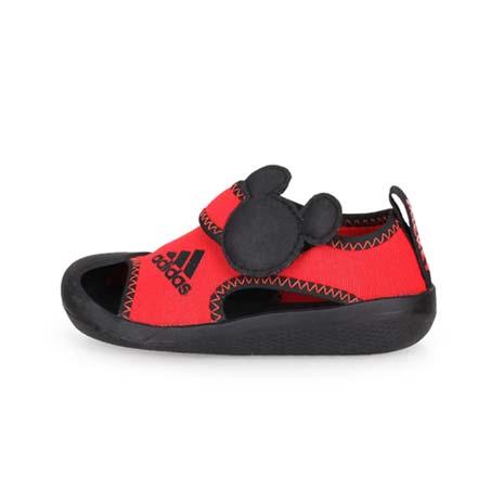 【ADIDAS】ALTAVENTURE MICKEY I 男小童護趾涼鞋-愛迪達 紅黑