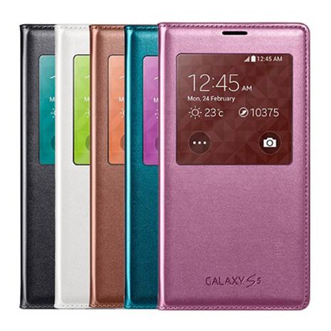 SAMSUNG Galaxy S5 (G900)原廠視窗感應觸控皮套-手機平板配件-myfone購物