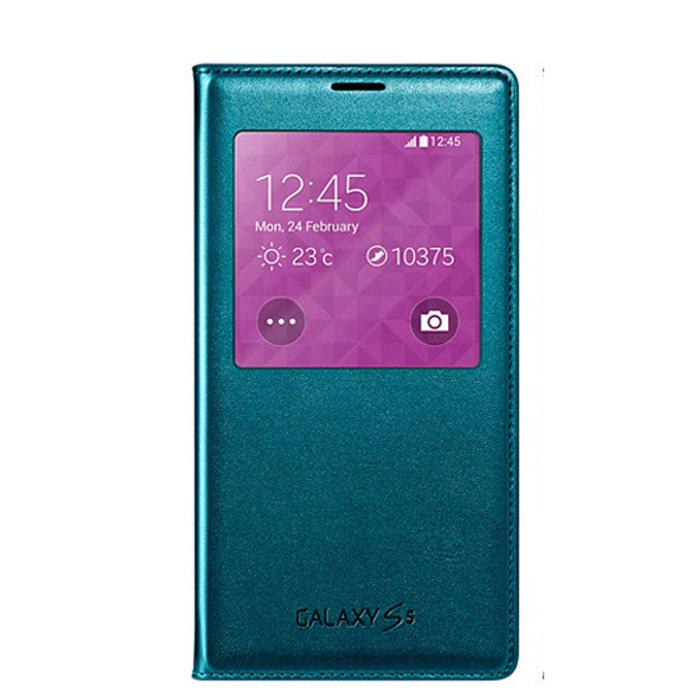 SAMSUNG Galaxy S5 (G900)原廠視窗感應觸控皮套-藍色