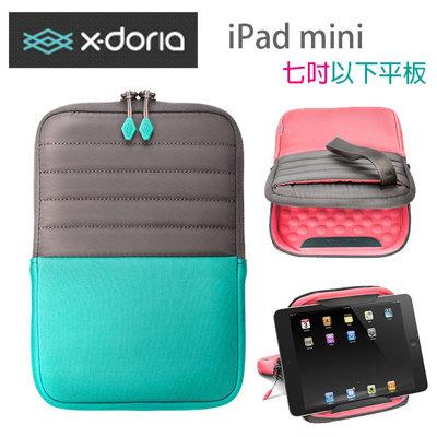 X-doria Apple iPad Mini 1/2/ 3 平板多功能收納包 適用七吋以下+ARMBAND運動休閒收納臂套(中)4.7吋以下