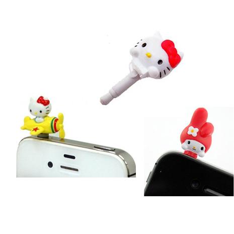 【日本GD】Hello Kitty 造型 + 搭乘小飛機 + 可愛Melody造型 耳機防塵塞
