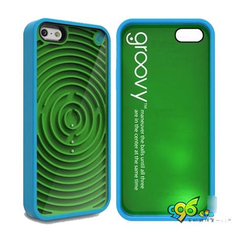 【美國PureGear 】iPhone5/5S/SE 小鋼珠遊戲軟膠保護殼-同心圓 +【LOVE】愛心桌上收納座 紅/粉
