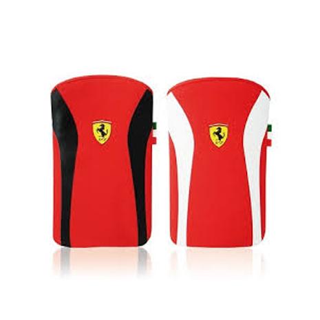 【Ferrari】法拉利F1手拿V2保護套-適用4.3吋以下-二入組 (黑紅+紅白)