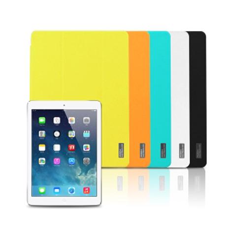 【ROCK】 新雅系列 Apple ipad Air / ipad 5 側掀皮套橘色