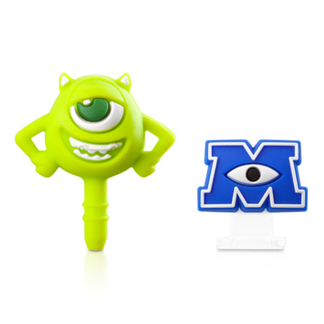 【MU怪獸大學】大眼仔耳機塞&Apple Lightning防塵塞組