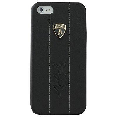 【藍寶堅尼】 iPhone5/5S Performate D1真皮背蓋 黑+ Performate D1真皮上掀皮套 黑- 組合商品