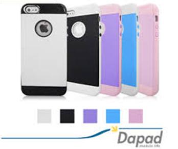 Dapad Apple iphone5/5S/SE 皮革紋雙料保護殼+SNOOPY螢幕清潔擦拭布 共三款 隨機出貨