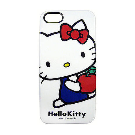 日本GD iPhone5/s/SE Hello Kitty 經典造型背蓋-白