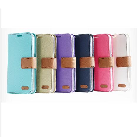 ROAR典雅斜紋書本式皮套-Samsung Grand Prime G530/G531Y+【Hoobbe】口香糖造型小立架-綠/粉紅