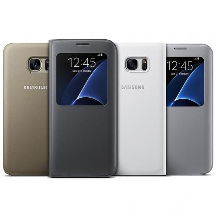 【三星原廠】 SAMSUNG Galaxy S7 Edge S View 側翻皮套 黑色