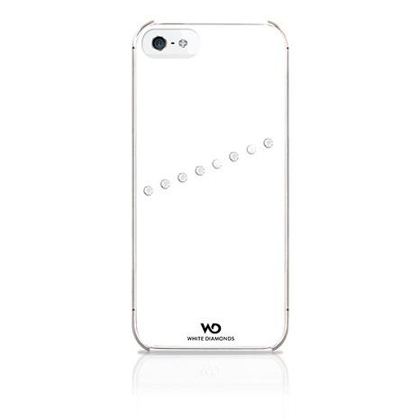 WD iPhone 5/s/SE 施華洛世奇斜紋水鑽背蓋黑色