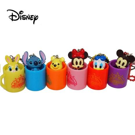 【Disney】馬克杯造型短吊飾-米奇/米妮/邦妮兔/唐老鴨/維尼 +【Disney】維尼家族收納套-小豬唐老鴨