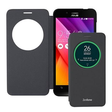 【華碩原廠】ASUS Zenfone Go 原廠透視側掀皮套 5吋 (ZC500TG) 黑