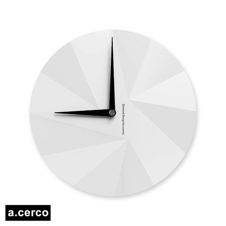 【a.cerco】 DIAMOND 鑽石風格時鐘-白色