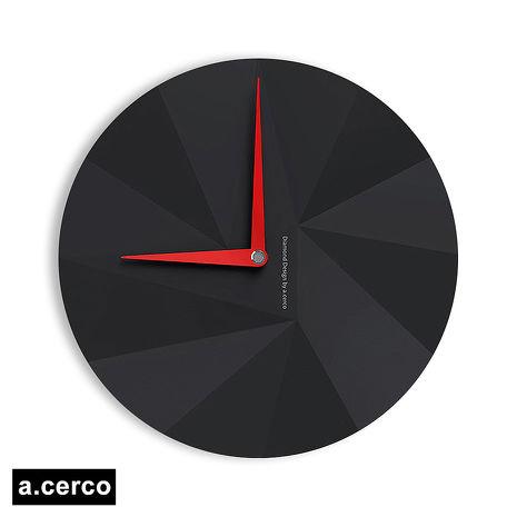 【a.cerco】 DIAMOND 鑽石風格時鐘-黑色