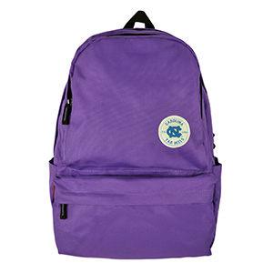 NCAA 北卡徽章馬卡龍色系休閒後背包 亮紫色