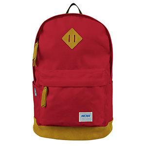NCAA - 小豬筆電多彩後背包 麂皮邊兒後背包 紅