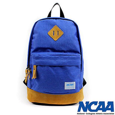 NCAA 後背包 豬鼻系小豬帆布後背包 藍色
