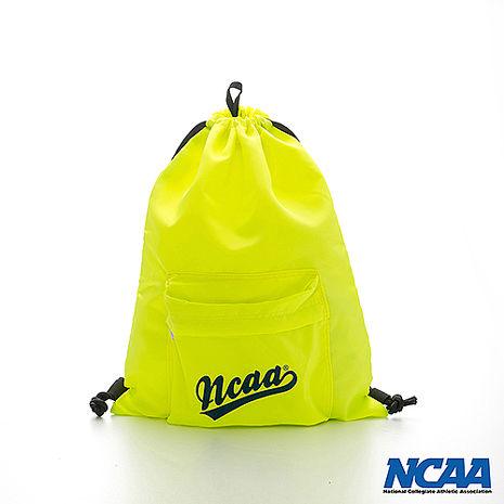 NCAA 束口包 字母束口拉繩後背包_螢光黃色