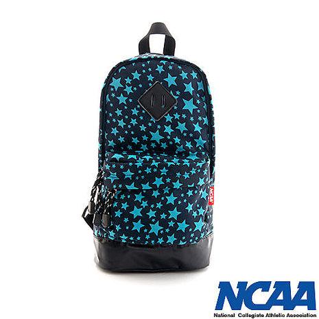 NCAA 單肩後背包 妝點星空 豬鼻系輕量尼龍單肩後背包_湖藍色