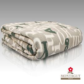 法國MONTAGUT夢特嬌【3M吸溼排汗毯-字母灰】買一送一