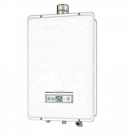 林內 13公升數位恆溫強制排氣型熱水器 RUA-B1301WFNG1 天然氣