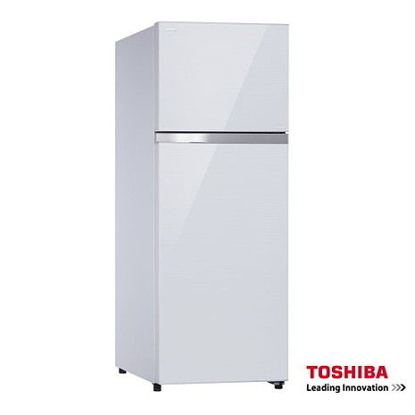 【TOSHIBA 東芝】409L 雙門變頻玻璃鏡面冰箱(GR-TG46TDZ) (白)