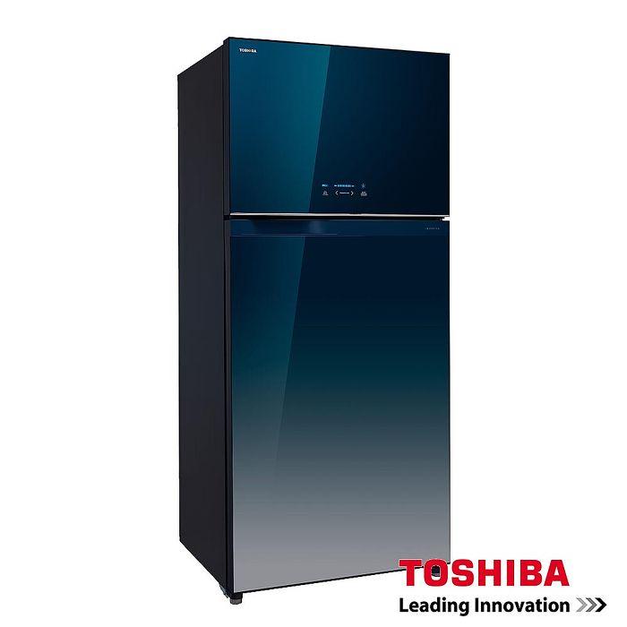 【福利品◆TOSHIBA】東芝608L雙門變頻玻璃鏡面冰箱GR-WG66TDZ (GG)