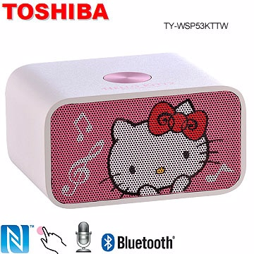TOSHIBA Hello Kitty NFC 藍芽喇叭音響 TY-WSP53KTTW (福利品)