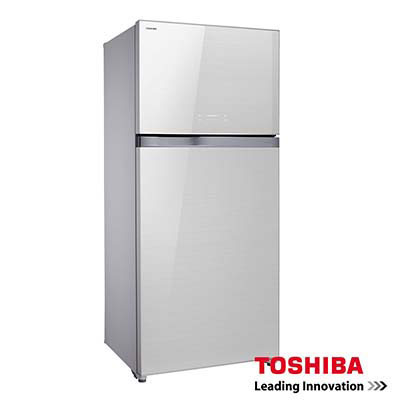 TOSHIBA東芝554L雙門變頻玻璃鏡面冰箱GR-WG58TDZZW 福利品