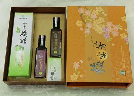 【甲仙農會】高雄精品梅宴芳禮盒 (梅精錠、有機黃梅和風醬、有機梅精醬油)