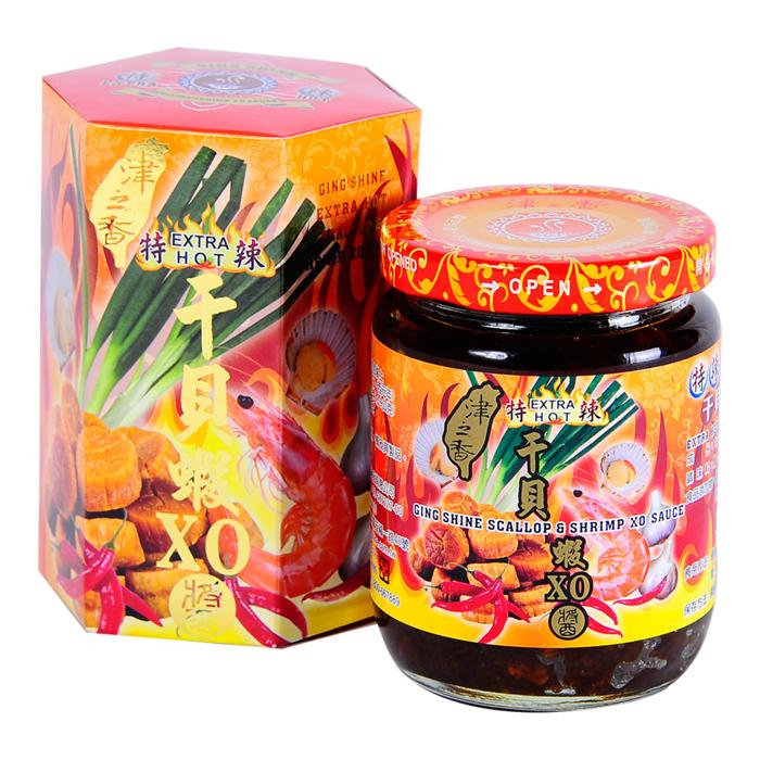 【津之香】特辣干貝蝦XO醬 (220g/瓶)