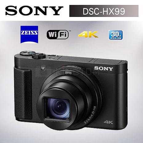 【新機上市】SONY HX99 觸控螢幕 4K錄影 數位相機(公司貨)-送32G大全配超值組