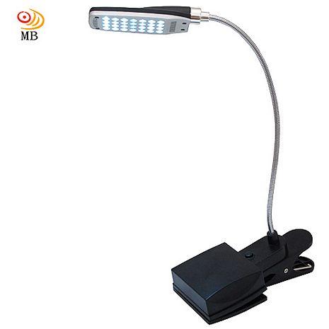 月陽28LED超白光電池USB座夾兩用3段檯燈工作燈(MD-889)