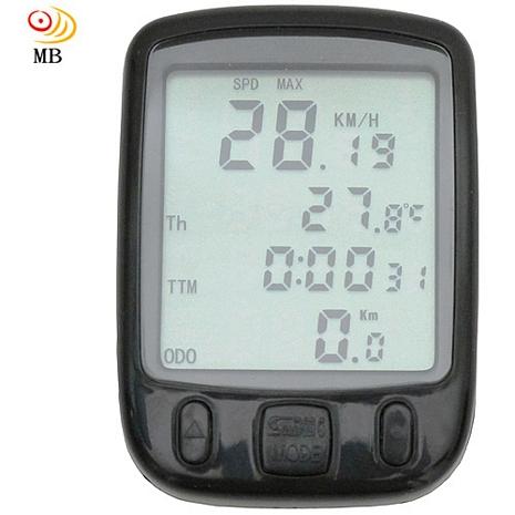 月陽超大字幕24功能溫度顯示自行車里程計數碼表(SD-563A)