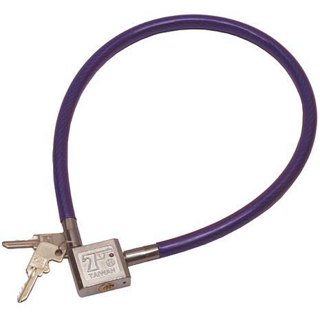 台灣製造10mm方型不鏽鋼鎖頭專業鋼纜鎖(2012)