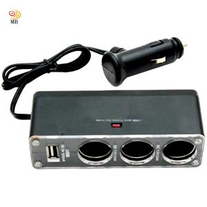 月陽汽車用三孔+USB輸出孔擴充點煙器(WF-0096)-相機.消費電子.汽機車-myfone購物