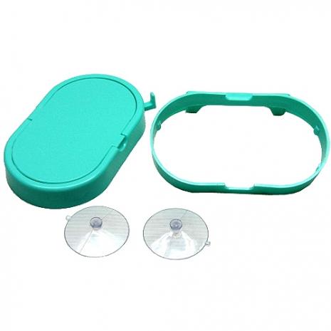 日式吸盤式廚餘菜渣儲放專用加蓋型回收袋架2入超值組(1005)