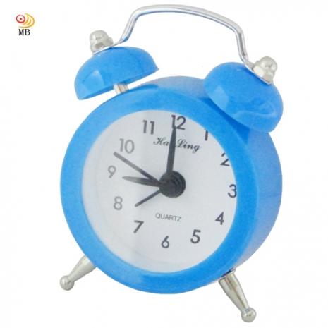 月陽色彩繽紛迷你復古造型指針式電子鬧鐘(HL-6635)