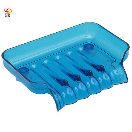 (任選三件498)月陽彩色透明導流式吸盤肥皂盒超值2入(1166)