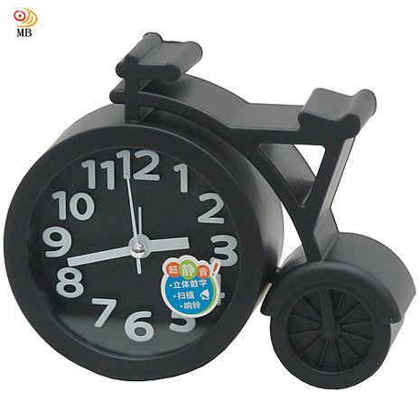 月陽13cm自行車造型掃秒靜音鬧鐘時鐘座鐘(RW947)