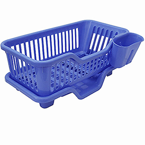 月陽MB大容量三件式排水式碗盤架餐具架筷籠收納架(735515)白色