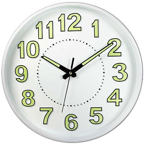 (特賣)NAKAY指針式夜光12吋靜音掛鐘(NCL-38)