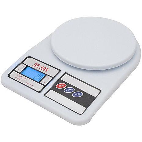 月陽3kg家用4單位多功能精密液晶藍光版圓型電子秤料理秤(SF400B)