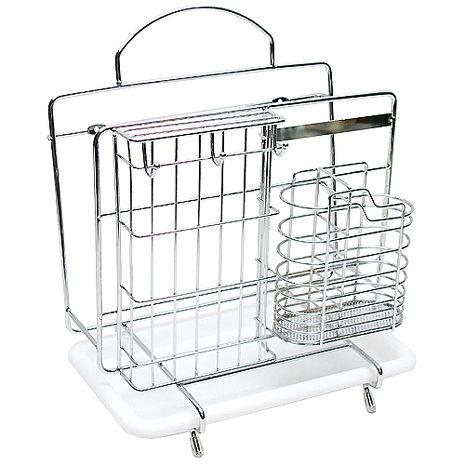 不鏽鋼蛋型多功能排水式砧板刀具筷架NO949-居家日用.傢俱寢具-myfone購物