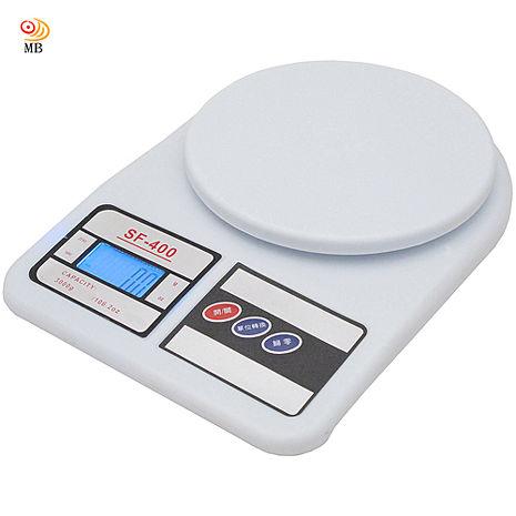 月陽圓型3kg家用去皮扣重液晶背光版電子秤料理秤廚房秤SF400C
