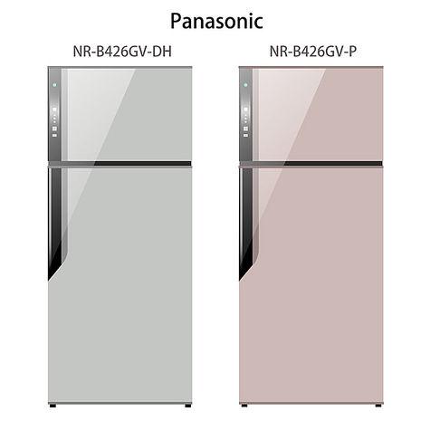 【Panasonic.國際牌】ECONAVI.422L雙門變頻電冰箱/燦銀灰(NR-B426GV)