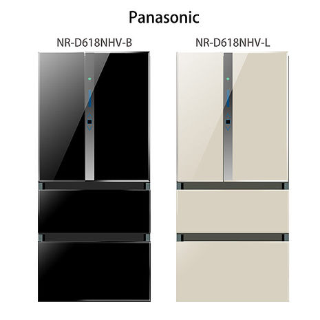 【Panasonic.國際牌】ECO NAVI+nanoe.610L四門變頻電冰箱/香檳金(NR-D618NHV)