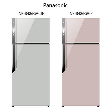 【Panasonic.國際牌】ECONAVI.485L雙門變頻電冰箱/燦銀灰(NR-B486GV)-家電.影音-myfone購物
